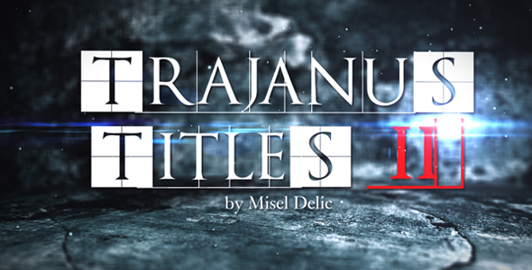 After Effects Project - VideoHive Trajanus Titles 2 Trailer 162427