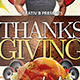 Thanksgiving Party Flyer Template 2
