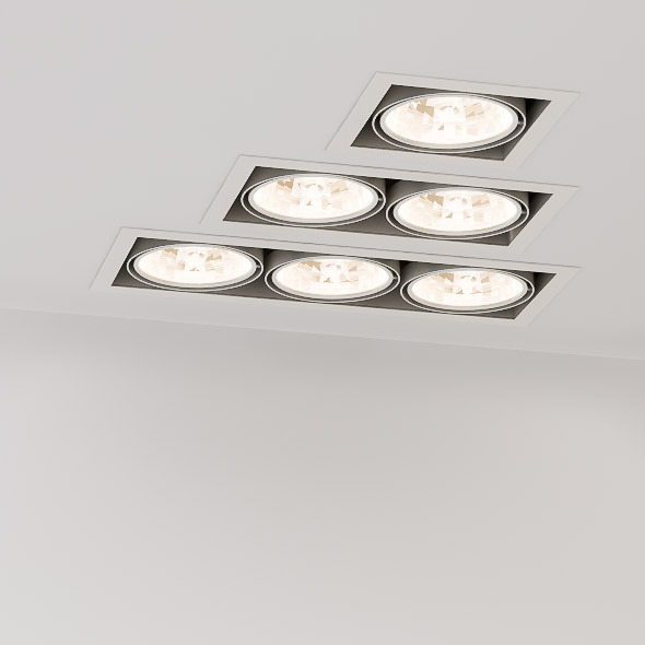 Recessed Square Spotlights - 3DOcean Item for Sale