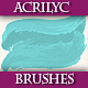 Set of Artistic Acrilyc Vector Brushes for Design.