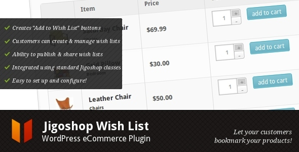 Jigoshop Wish List