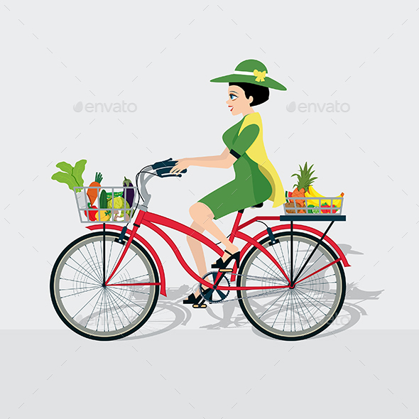Bike with Vegetables