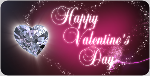 After Effects Project - VideoHive Diamond Heart on Valentine Day 1358663