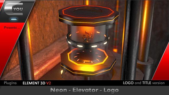 Neon Elevator Logo