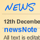 newsNote - unlimited news items on note paper - ActiveDen Item for Sale