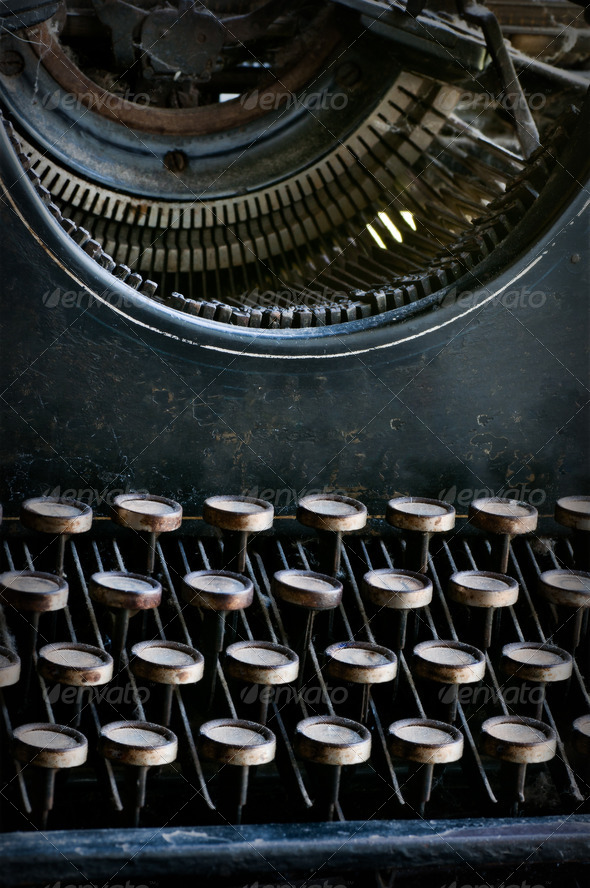 Old typewriter - Stock Photo - Images