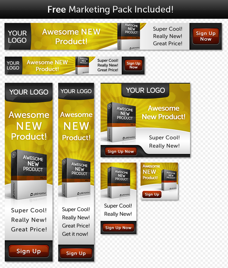 Unveiled - Ultimate Product Focused Landing Page - 7 Bonus banners for the Golden Delight Theme