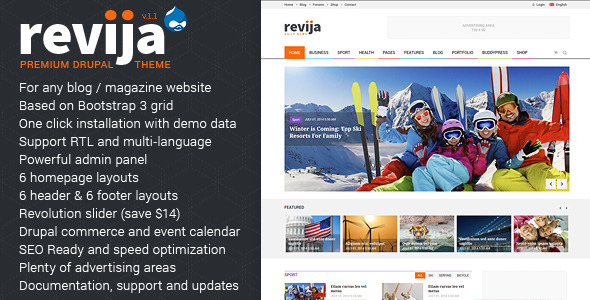 preview big.  large preview - Revija – Premium Blog/Magazine Drupal theme