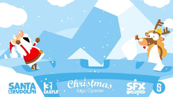Christmas Logo Opener 3 - castle