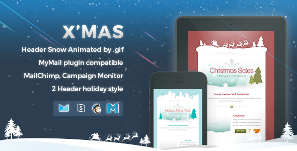 Download X'mas - Responsive Email Template nulled download