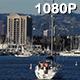 Sailboat Floats into Marina Del Rey