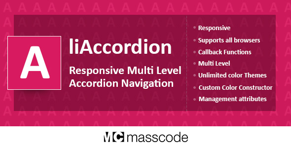 Responsive Multi Level Accordion – liAccordion (Navigation) images
