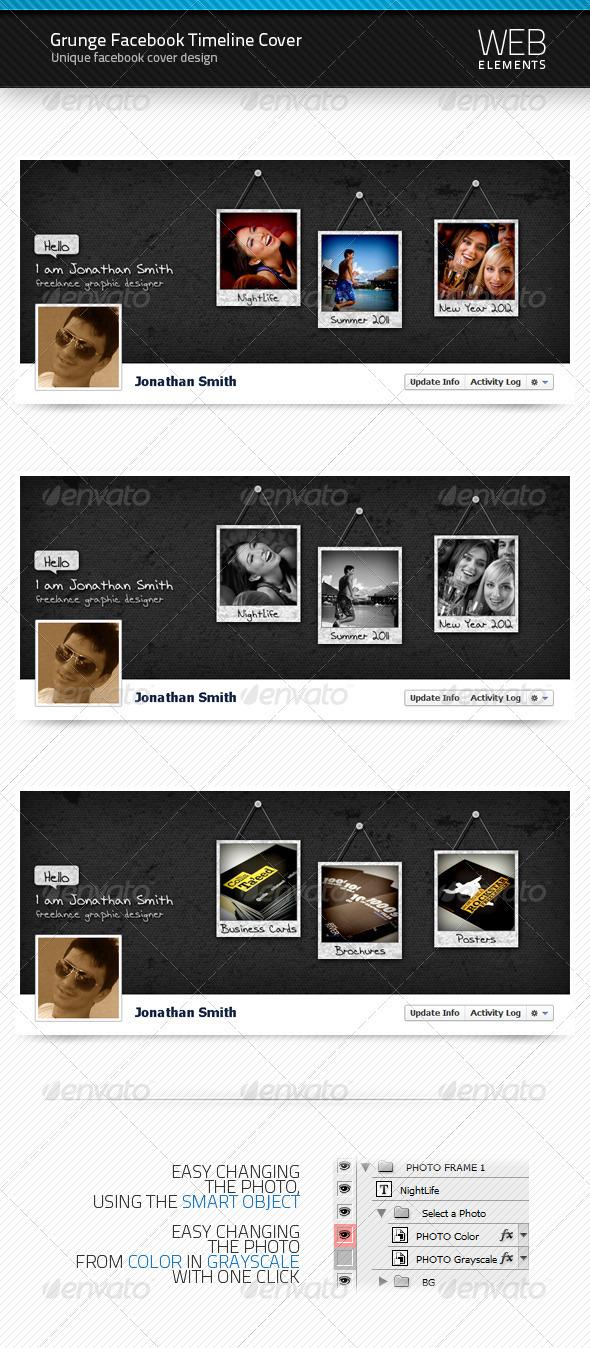 Grunge Facebook Timeline Cover - Facebook Timeline Covers Social Media