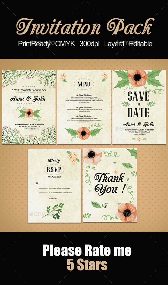 Invitation Pack Templates