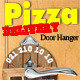 Pizza Delivery Door Hanger - GraphicRiver Item for Sale