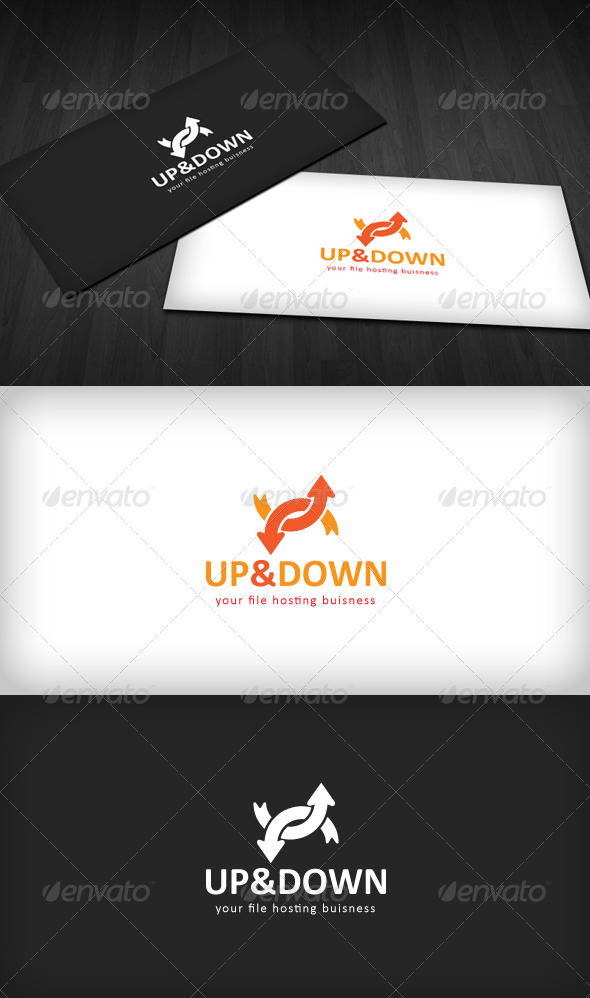 Up & Down Logo - Vector Abstract