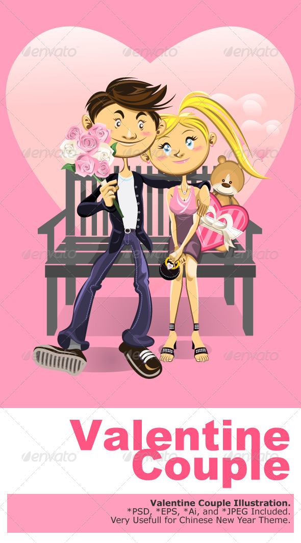 GraphicRiver Valentine Couple 1359432