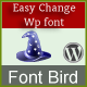 FontBird, easy change WordPress site's font