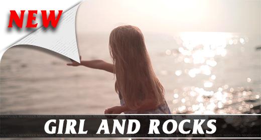 Girl And Rocks