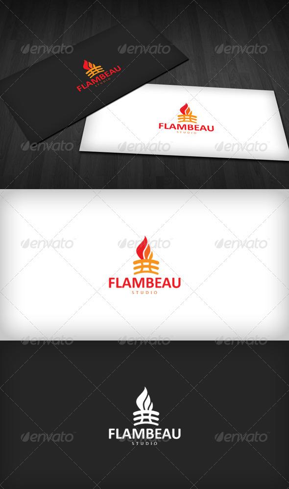 Flambeau Studio Logo - Symbols Logo Templates
