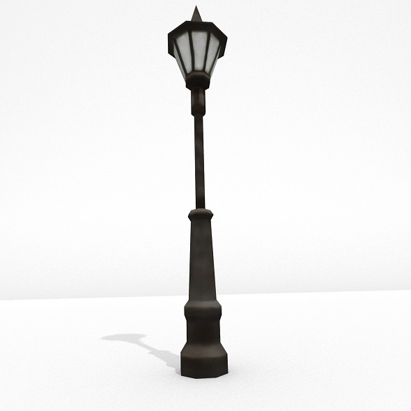 Low Poly Street Lamp - 3DOcean Item for Sale