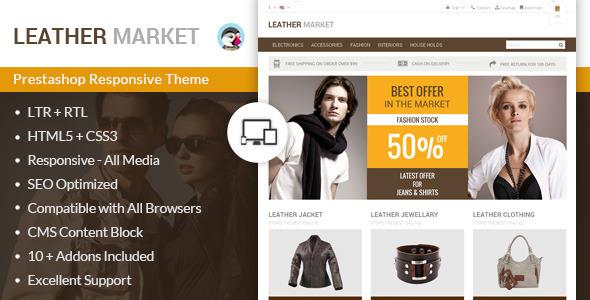 Leather Market - Prestashop Responsive Theme