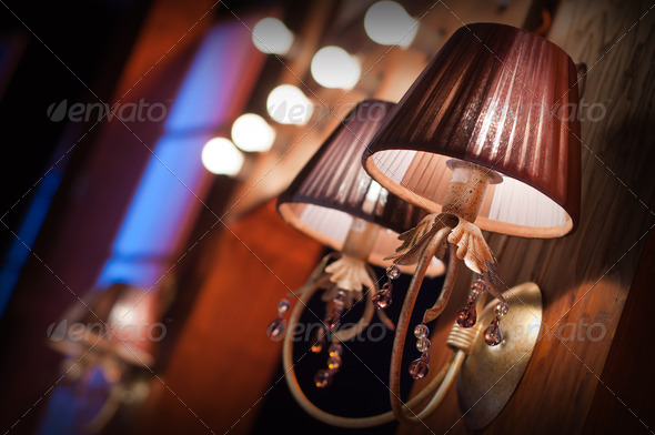 elegant wall lamp - Stock Photo - Images