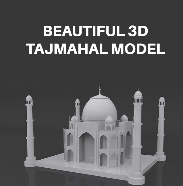 Taj Mahal Model - 3DOcean Item for Sale