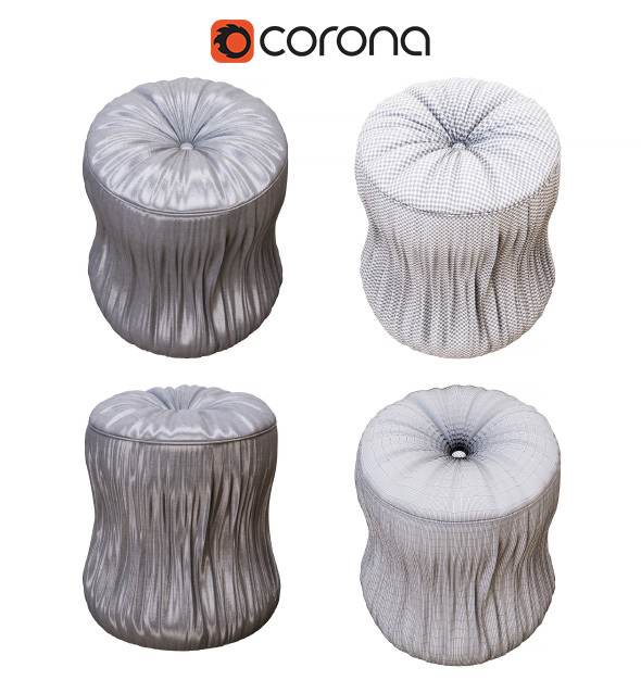 Classic pouf premium quality - 3DOcean Item for Sale