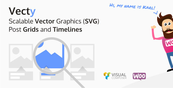 Vecty - SVG Post Grids and Timelines