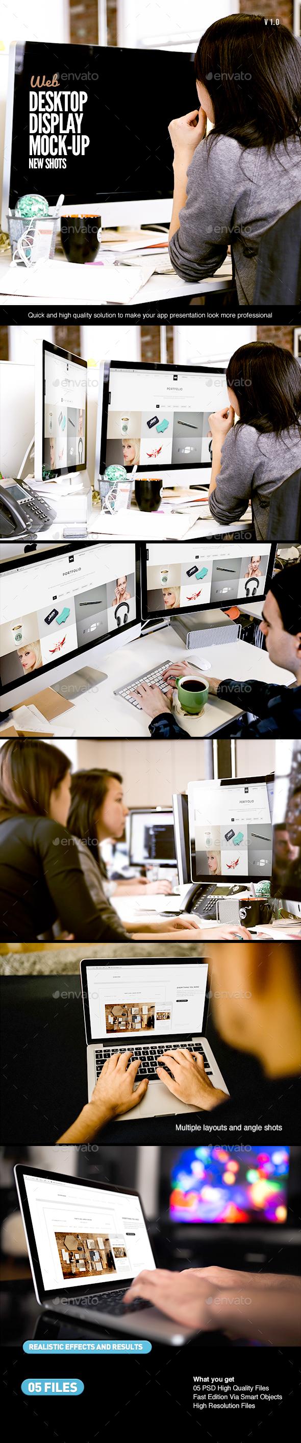 Desktop Screen Work Display Mock-Up (Displays)