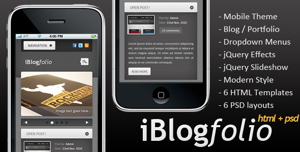 iBlogfolio HTML + PSD