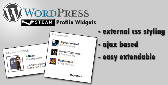 Steam Profile Widget - CodeCanyon Item for Sale