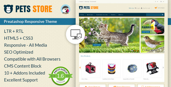 Pet Store - Prestashop Responsive Theme