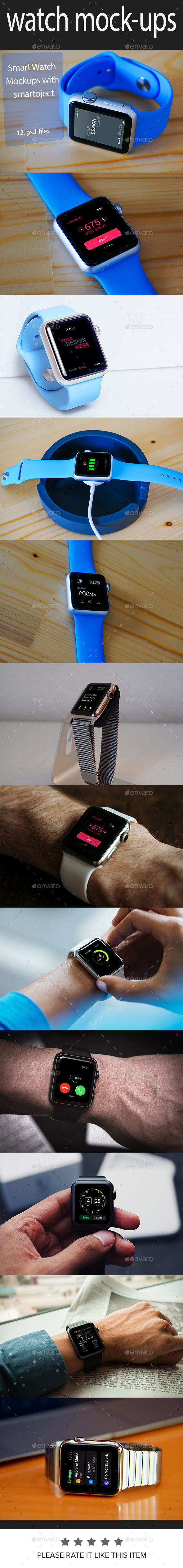 Watch Mockups (Displays)