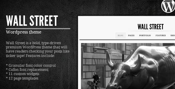 Wall Street Wordpress Theme