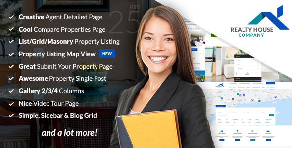 Realty House - Real Estate PSD Template