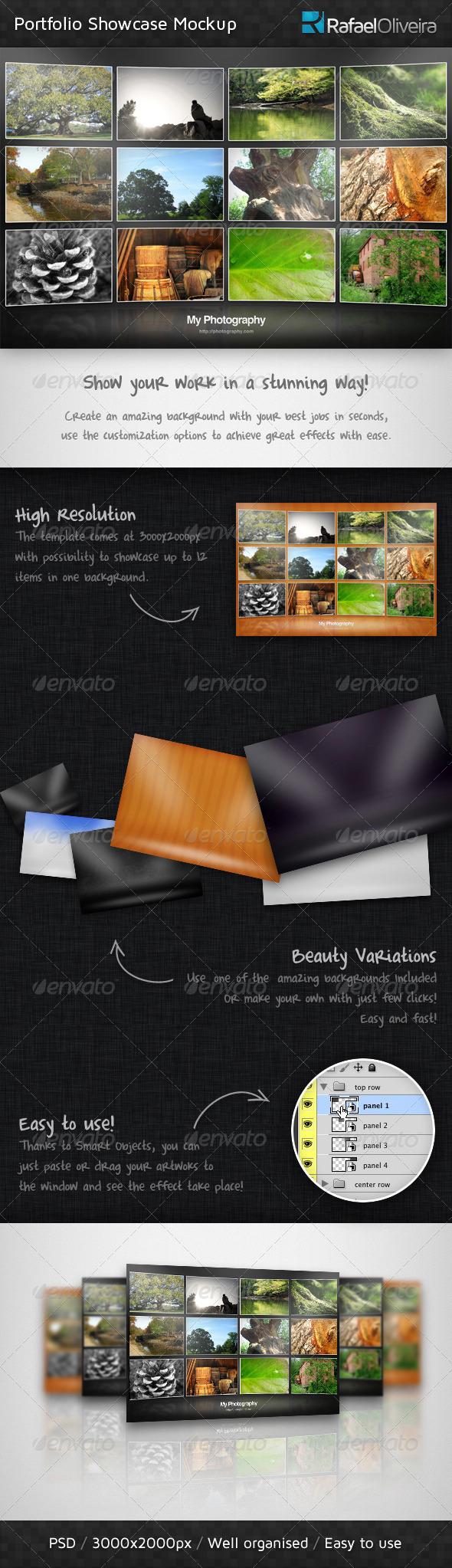 GraphicRiver Portfolio Showcase Mockup 467080
