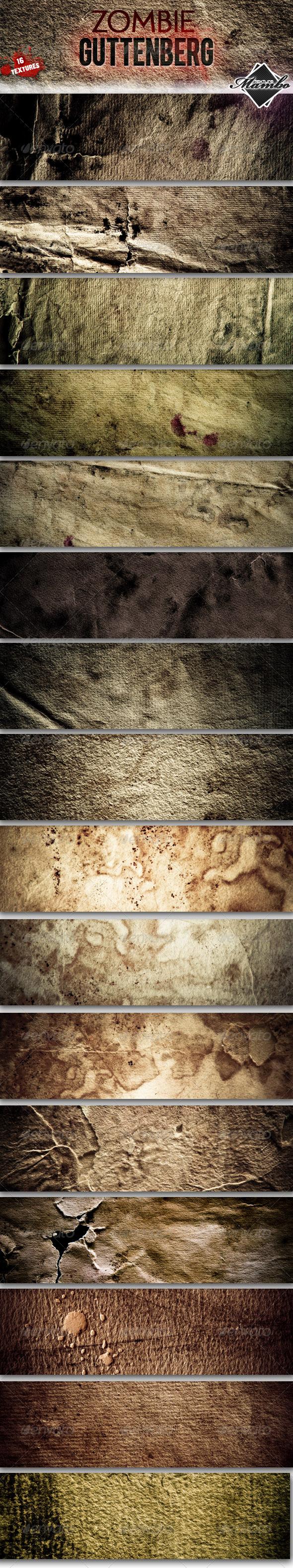 GraphicRiver Zombie Guttenberg Paper textures 162403