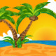 Tropical Sunset Beach - GraphicRiver Item for Sale