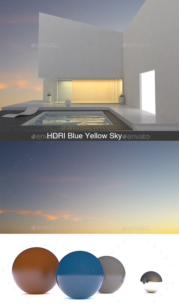 Blue Yellow Sky HDRI - 3DOcean Item for Sale
