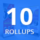 Bundle of 10 Business Roll Up Banners