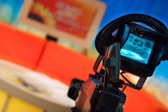 Television studio - Stock Photo - Images