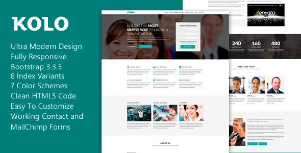 Kolo - Premium Startup Landing Page
