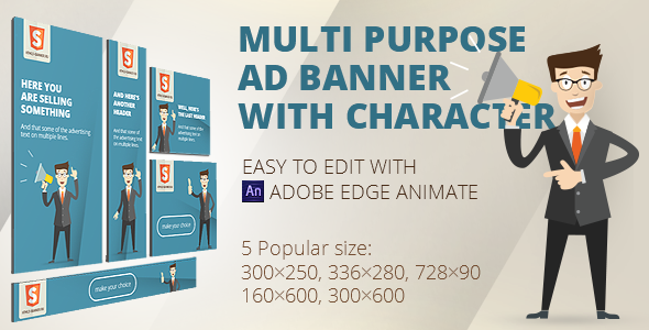 CodeCanyon HTML5 Animated banner templates Character 13618705