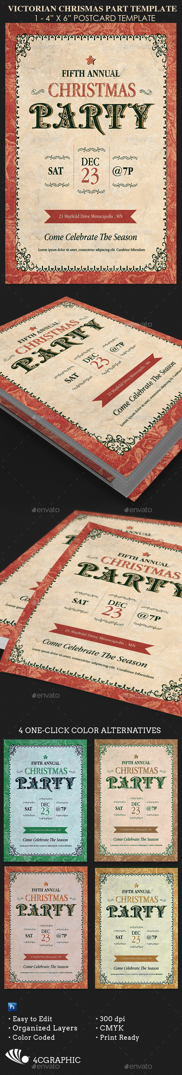 Victorian Christmas Party  Flyer