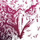 Eagle Engraving on watercolor background