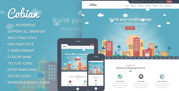 Cobian flat bootstrap landing page