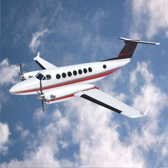 Beech craft King Air 350 propeller aircraft - 3DOcean Item for Sale