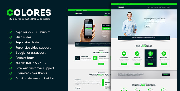 Colores - Multipurpose WordPress Template